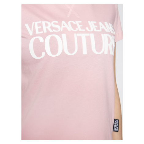 Versace Jeans Couture T-Shirt B2HVA7X0 Różowy Regular Fit