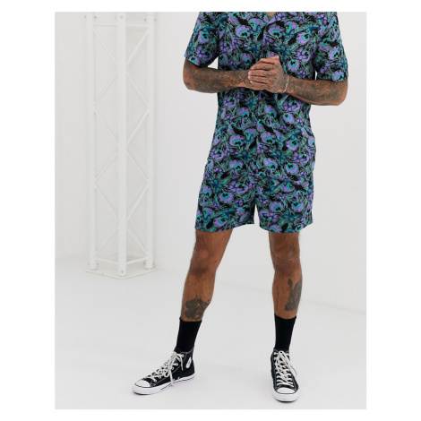 Another Influence CO-ORD peacock print shorts