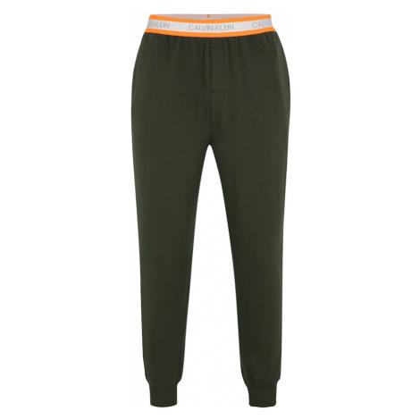 Calvin Klein Underwear Spodnie od piżamy 'JOGGER' ciemnozielony