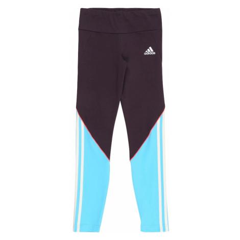 ADIDAS PERFORMANCE Spodnie sportowe 'Bold' ciemnofioletowy / jasnoniebieski / biały