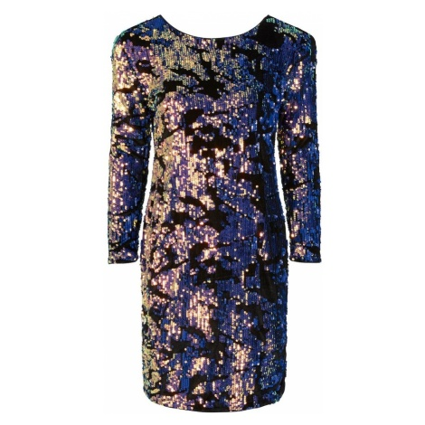 Y.A.S Sukienka 'HANNAH SEQUIN' fioletowo-niebieski / czarny