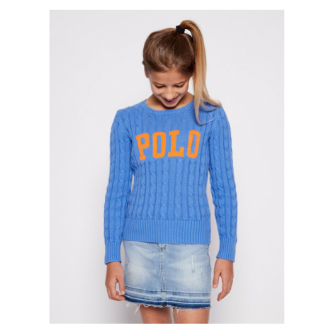 Polo Ralph Lauren Sweter Cable 313792826 Niebieski Regular Fit