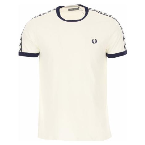 Fred Perry Koszulka dla Mężczyzn Na Wyprzedaży w Dziale Outlet, biały, Bawełna, 2019