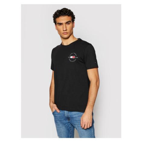 Tommy Hilfiger T-Shirt Circle MW0MW17680 Czarny Regular Fit
