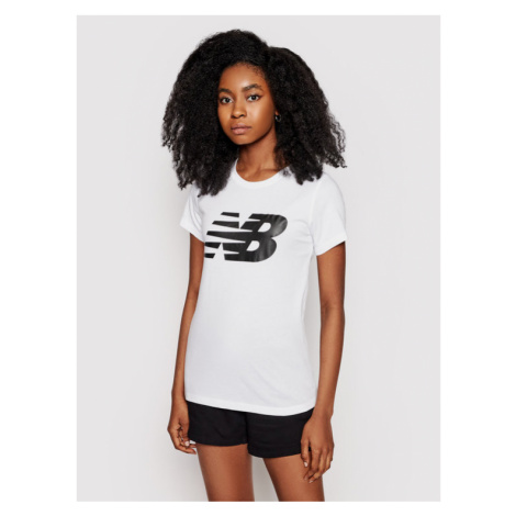 New Balance T-Shirt Classic Flying Nb Graphic WT03816 Biały Athletic Fit