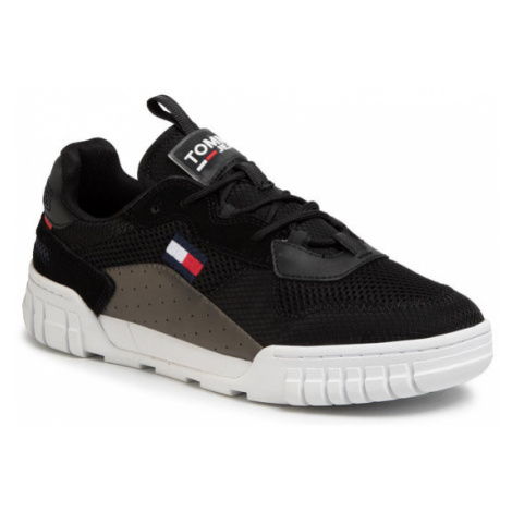 Tommy Jeans Sneakersy Retro Mesh Sneaker EM0EM00398 Czarny