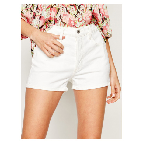 Levi's® Szorty jeansowe 501® High-Waisted Shorts 56327-0025 Biały Slim Fit Levi´s