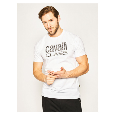 Cavalli Class T-Shirt B3JVB710 Biały Regular Fit Roberto Cavalli