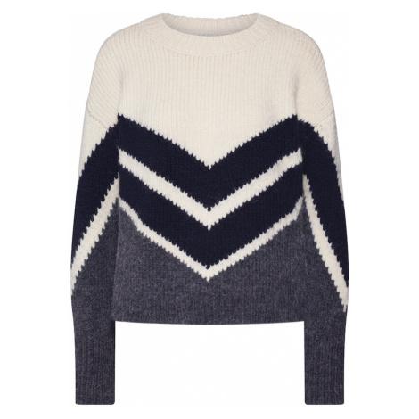 ONLY Sweter 'ODETTA' beżowy / szary / czarny
