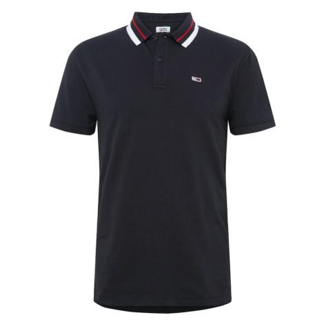 Tommy Jeans Koszulka czarny / czerwony / biały Tommy Hilfiger