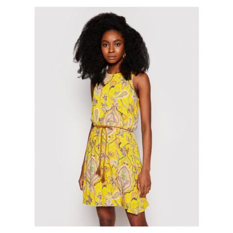 Desigual Sukienka letnia Adriana 21SWVWAX Żółty Regular Fit