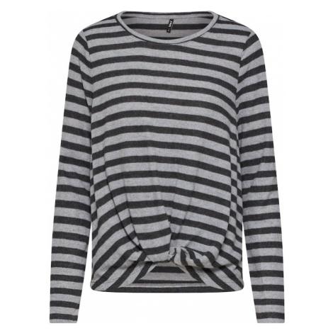 ONLY Sweter jasnoszary / ciemnoszary