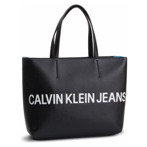 Torebka CALVIN KLEIN JEANS - Sculpted Logo E/W Tote K60K605246 001