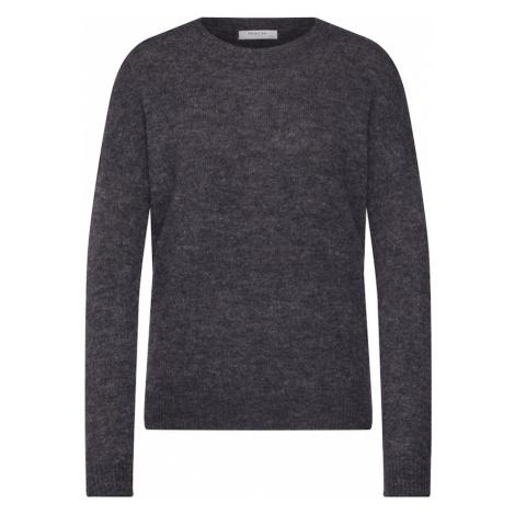 MOSS COPENHAGEN Sweter 'Femme Alpaca O Pullover' szary