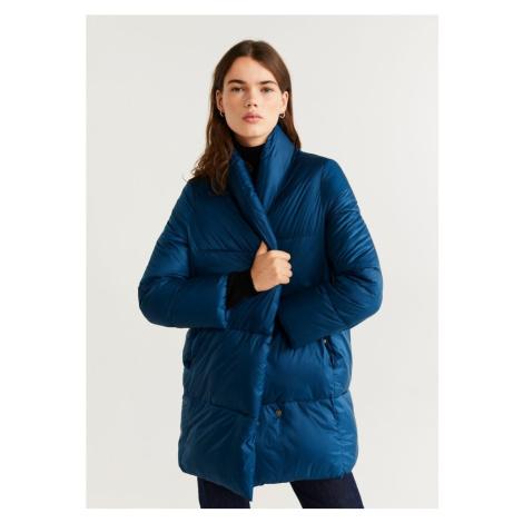 MANGO Płaszcz zimowy 'Nedalong' kobalt niebieski