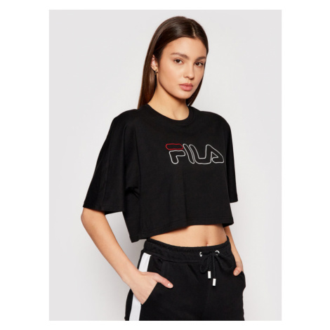 Fila T-Shirt Jamielle 683303 Czarny Cropped Fit
