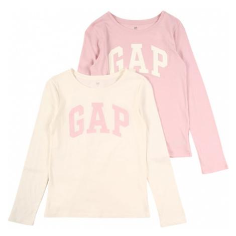 GAP Koszulka kremowy / różowy pudrowy