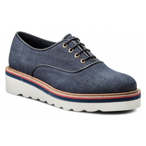 Oxfordy TOMMY HILFIGER - Sporty Denim Lace up FW0FW02728 Denim 404