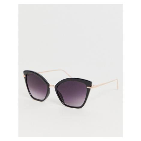 ASOS DESIGN cat eye sunglasses with metal nose bridge