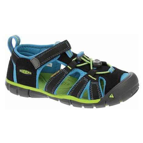 buty dziecięce Keen Seacamp II CNX - Black/Blue Danube
