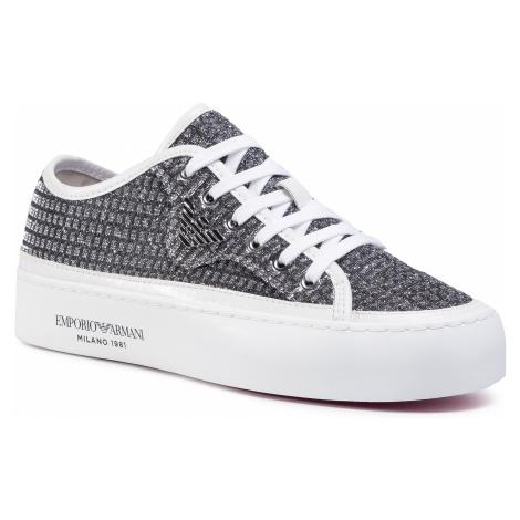 Sneakersy EMPORIO ARMANI - X3X109 XM519 A646 Silver/White