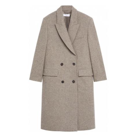 MANGO Płaszcz przejściowy nakrapiany brązowy