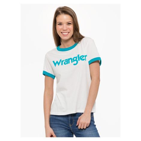 """Wrangler """"Ringer Tee"""" White"""