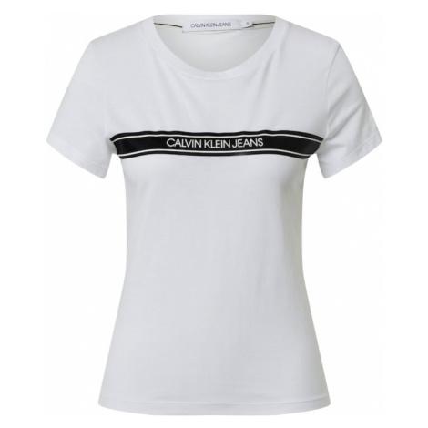 Calvin Klein Jeans Koszulka czarny / biały