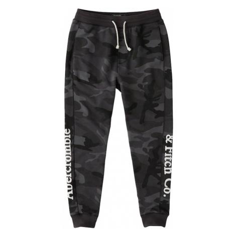 Abercrombie & Fitch Spodnie antracytowy / czarny