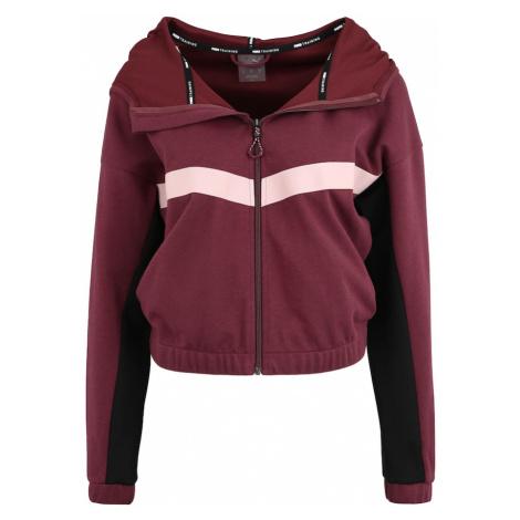 PUMA Bluza rozpinana sportowa 'HIT Feel It Sweat Jacket' czerwone wino