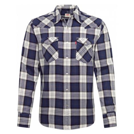 LEVI'S Koszula 'BARSTOW WESTERN STANDARD' kremowy / ciemny niebieski / biały Levi´s