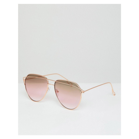 AJ Morgan aviator sunglasses in gold/pink