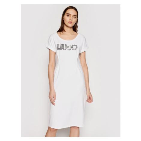 Liu Jo Sport Sukienka codzienna TA1027 J5756 Biały Regular Fit