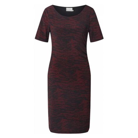 Kaffe Sukienka 'Airis' czarny / bordowy / rdzawoczerwony