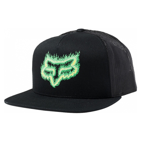 czapka z daszkiem Fox Flame Head Snapback Trucker - Black/Green