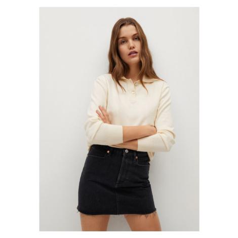 Mango Spódnica jeansowa Rachel 87034018 Czarny Regular Fit