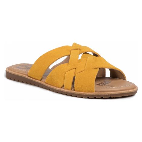 Klapki SOREL - Ella Slide NL3539-705 Golden Yellow 705