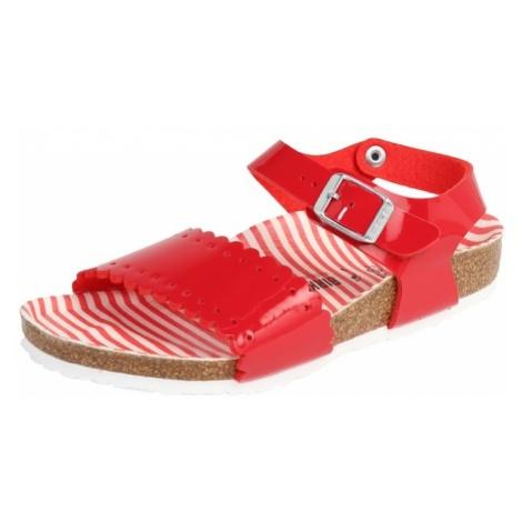 BIRKENSTOCK Sandały 'RISA' czerwony / biały