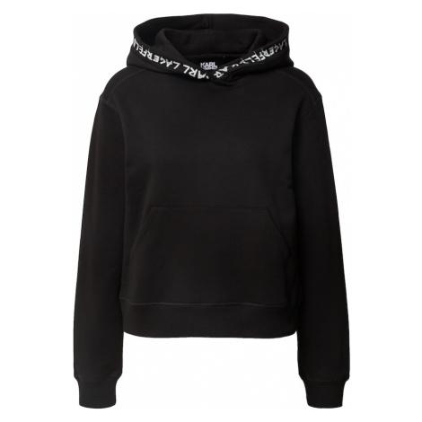 Karl Lagerfeld Bluzka sportowa czarny / biały