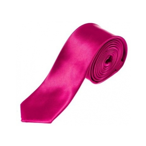 Elegancki krawat męski ciemnofioletowy Denley K001