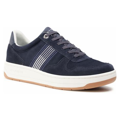 Sneakersy TOMMY HILFIGER - Basket Low Suede Cupsole Sneaker FM0FM02844 Desert Sky DW5