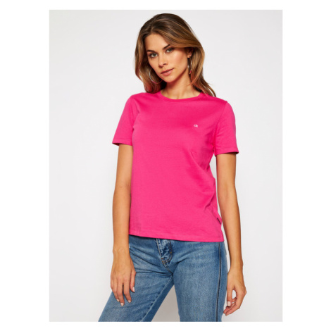 Calvin Klein T-Shirt Small Logo K20K202132 Różowy Regular Fit