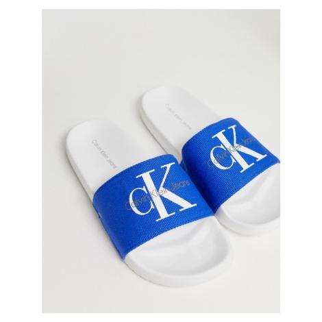 Calvin Klein Viggo sliders in blue