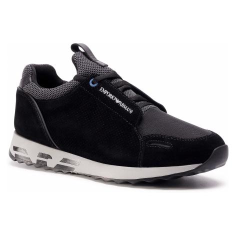 Sneakersy EMPORIO ARMANI - X4X241 XL690 M997 Blk/Blk/Blk/Grey/Blk