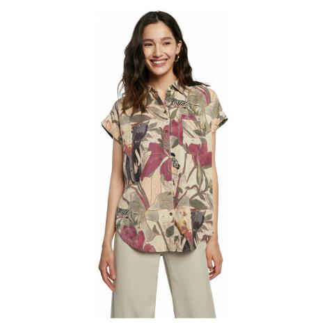 Desigual kolorowa luźna koszula Cam Etnican