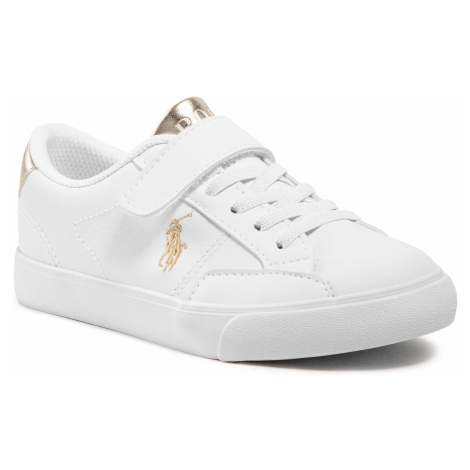 Sneakersy POLO RALPH LAUREN - Theron IV Ps RF102987 M White/Gold
