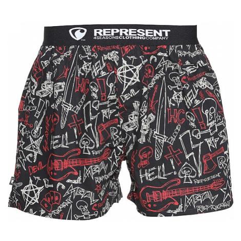bokserki Represent Exclusive Mike Metal - Black/Red