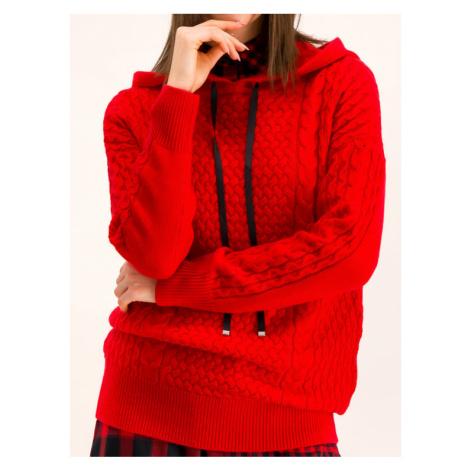 Hugo Sweter 50414237 Czerwony Regular Fit Hugo Boss