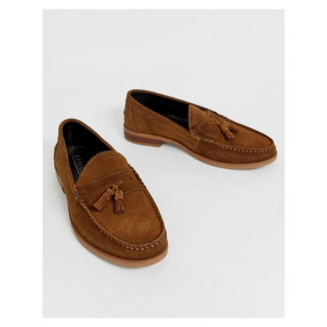 Office Liho tassel loafers in tan suede