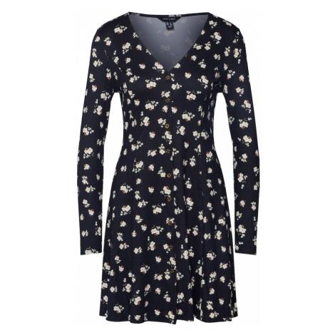 NEW LOOK Sukienka 'BETSY S/TCH BTN THRU L/SLV P43' czarny / biały
